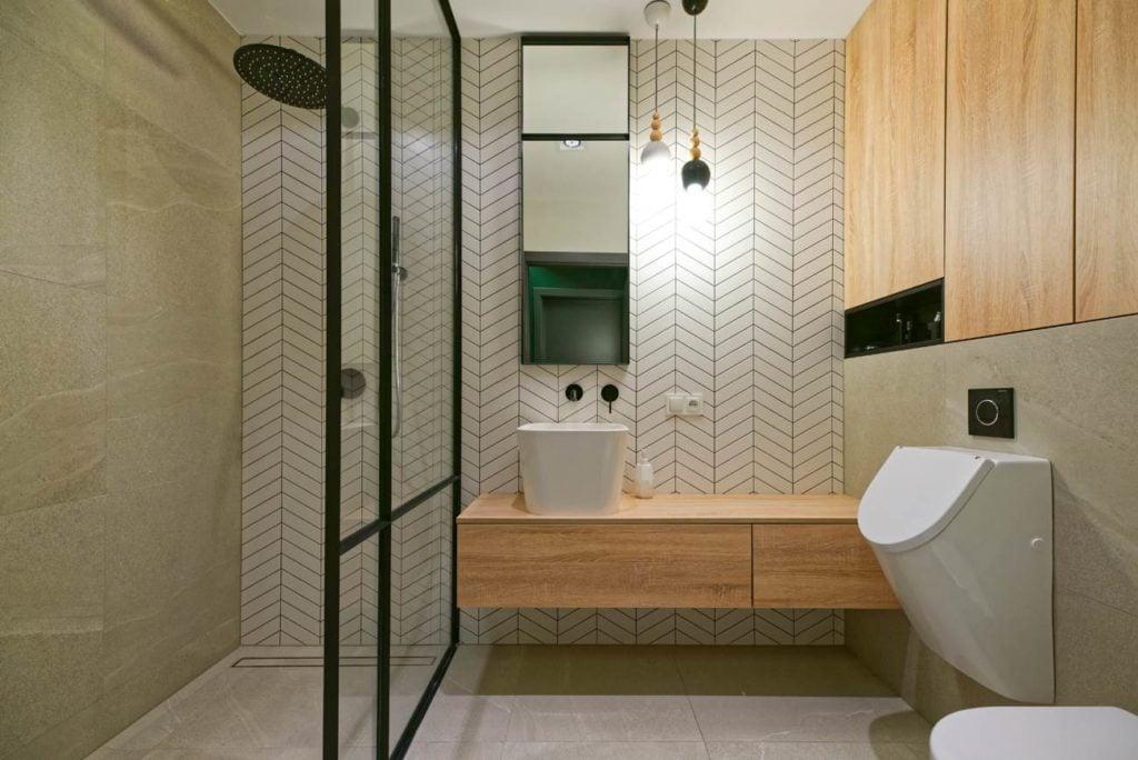 łazienka drewno